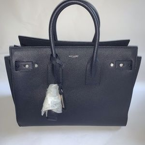 Sac de Jour Small Navy Leather Tote